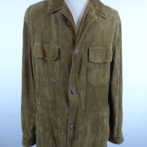 BANANA REPUBLIC BROWN SUEDE LEATHER Jacket L